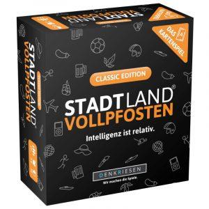 Stadt Land Vollpfosten: Das Kartenspiel - Classic Edition von Denkriesen