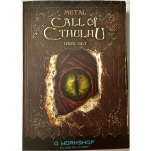 Cthulhu: Metal Call of Cthulhu Dice Set - Exklusives Würfel-Set Metall